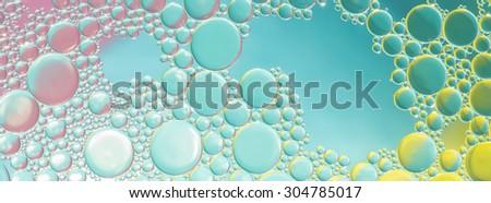 water bubbles abstract light illumination - stock photo