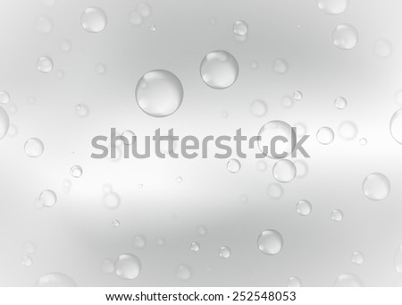 Water bubbles filtered to gray. Abstract bubbles on Gray water background - stock photo