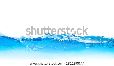 water bubbles surface - stock photo