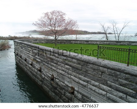 water canal - stock photo
