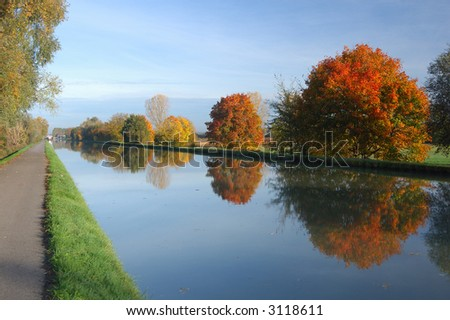 Water channel - stock photo