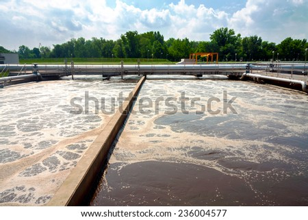 Water cleaning facility outdoors photo - stock photo