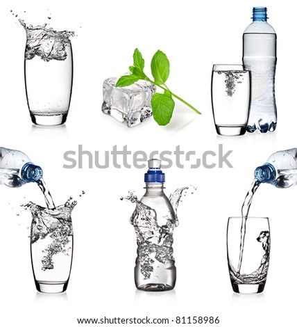 Water collage - stock photo