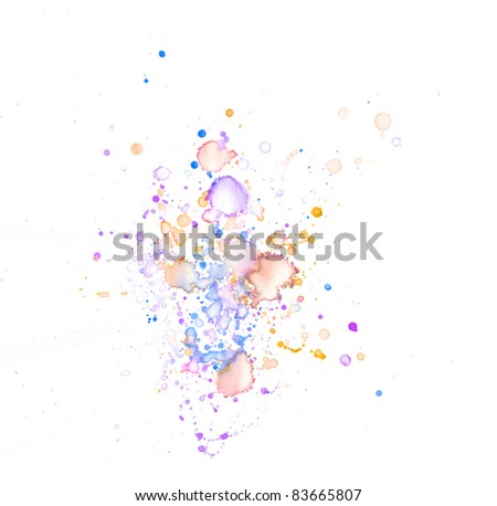 Water color grunge - stock photo