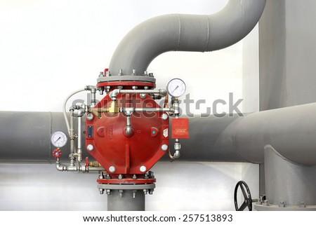 water control valve - stock photo