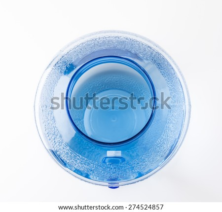 water cooler bottle on white background - stock photo