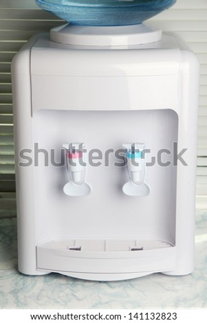 Water cooler close-up - stock photo