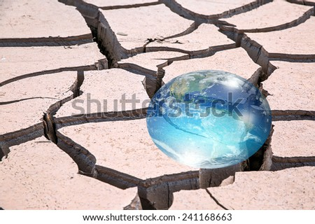 "water crisis and droplet with world  ""Element s of this image furnished by NASA ""  - stock photo"