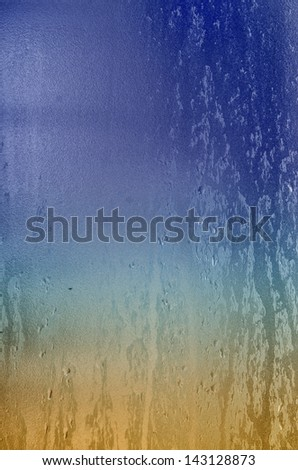 Water drop and droplet on mirror - stock photo