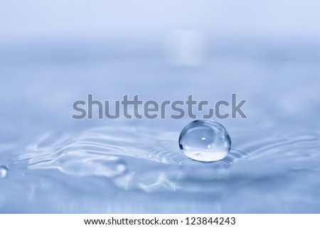 water drop closeup - stock photo