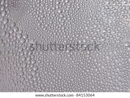 Water drop on clear background - stock photo