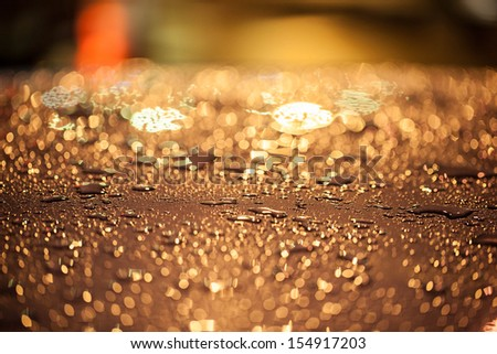 water drop on night background - stock photo