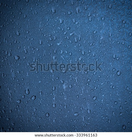 water drop on window as background image - stock photo