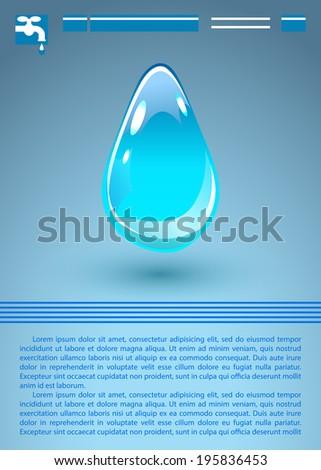 Water Drop. Raster version - stock photo