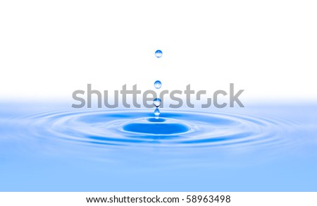 Water Drop Splash with copy space - stock photo