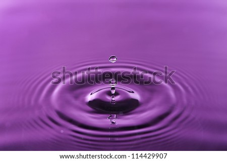 Water droplet is creating circles - stock photo