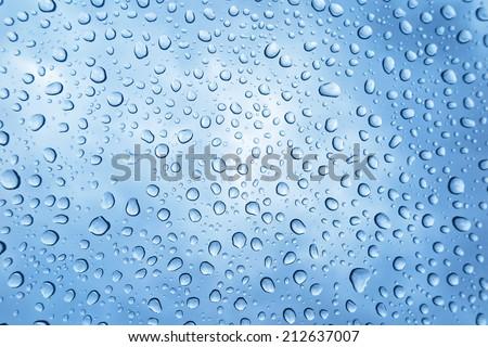 water drops and rain drops - stock photo