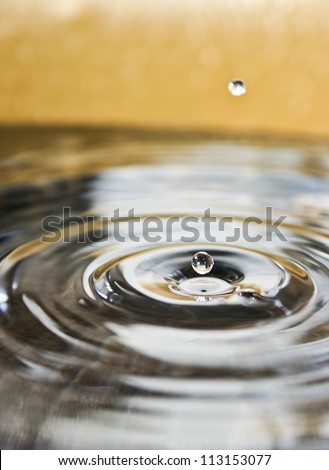 water drops close up - stock photo