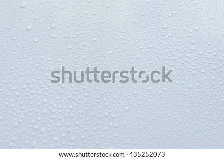 Water drops on a white background - stock photo