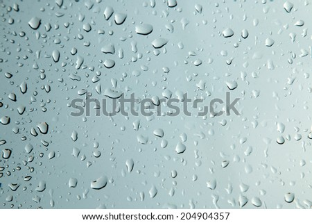 water drops on a window - stock photo