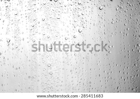 water drops on glass background. - stock photo