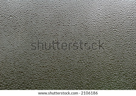 water drops on glass close up - stock photo