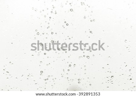 Water drops on glass. Rain - stock photo