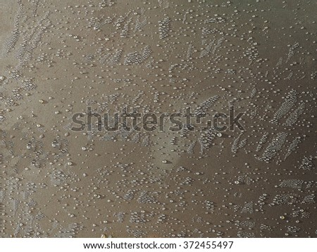 water drops on  metal for abstract background - stock photo