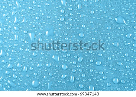 water drops on pink background - stock photo