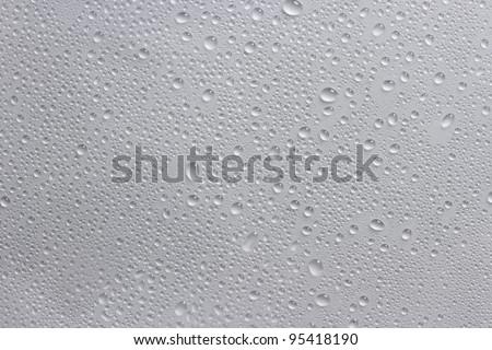 water drops white - stock photo