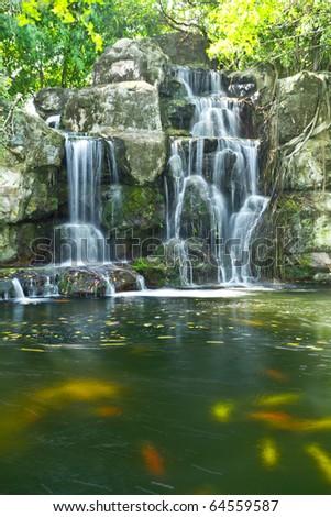 water fall - stock photo