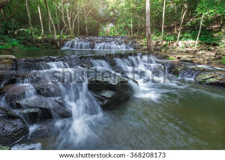 water fall in thailand - stock photo