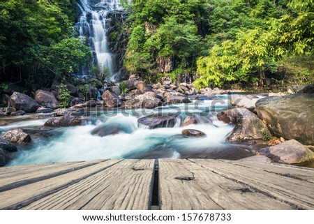 water fall in the jungle - stock photo