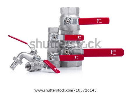 Water Faucets Stacked - stock photo