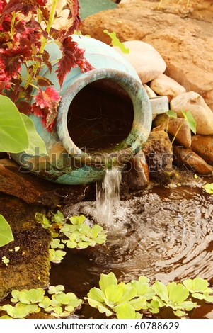 Water feature - stock photo