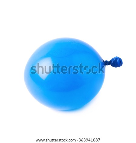 Water filled air balloon isolated - stock photo