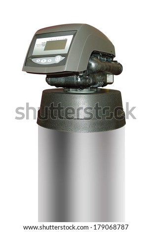 Water filter for clean drinking water with clipping path - stock photo