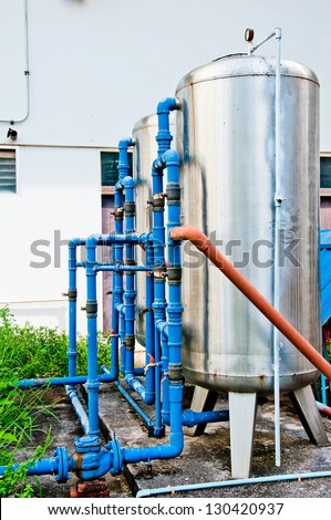 Water Filter System - stock photo