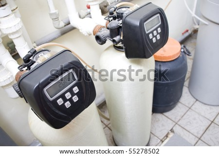 Water filtering system - stock photo