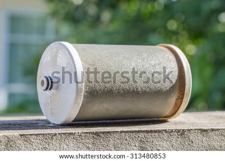 Water filters expires - stock photo