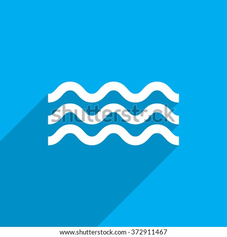 Water flat icon illustration - stock photo