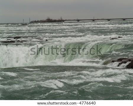 water flow at Niagara - stock photo