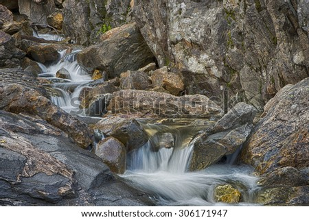 Water flowing Steamboat Springs Colorado - stock photo