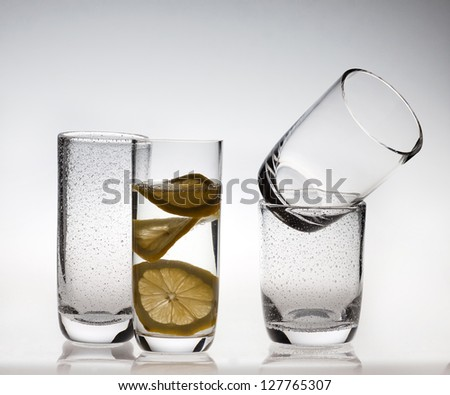 Water glasses - stock photo