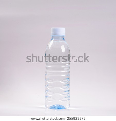 water in bottle on white background   - stock photo
