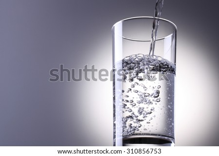 Water is poured - stock photo