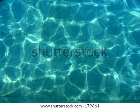 Water light reflection - stock photo