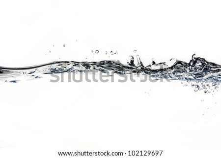 Water line - stock photo