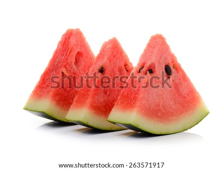 water melon on white background - stock photo