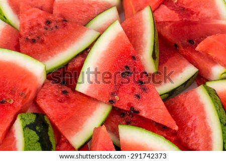 water melon slices as a background - stock photo